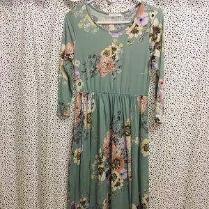 Floral print boutique style dress